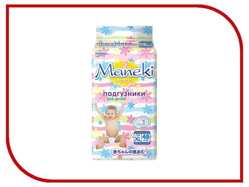 Подгузники Maneki Fantasy XL 12kg 48шт BD1002