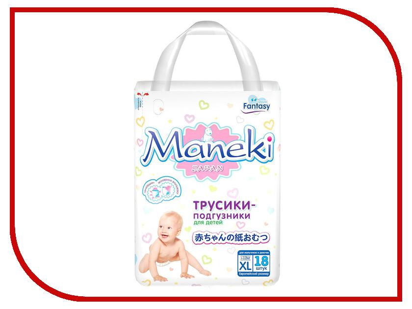 Подгузники Maneki Fantasy Мини XL 12kg 18шт BD1279