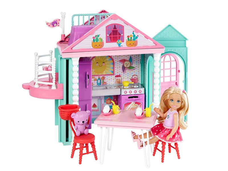 Кукольный домик Barbie Домик Челси, 14 см, DWJ50