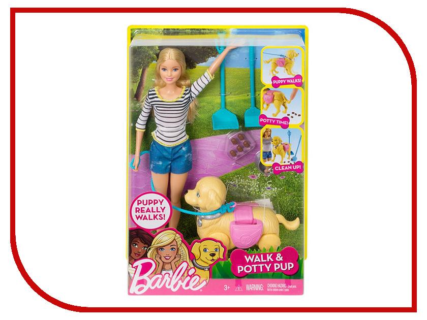Кукла Mattel Barbie Прогулка с питомцем DWJ68 barbie набор сестра барби с питомцем barbie dmb26