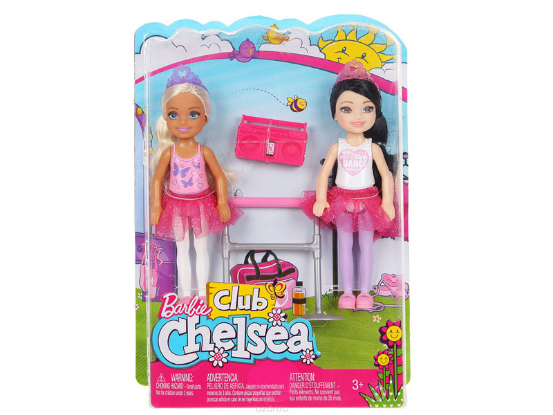 Кукла Mattel Barbie Челси 2шт FHK96 mattel мини кукла barbie маленькие русалочки волшебный гребешок челси