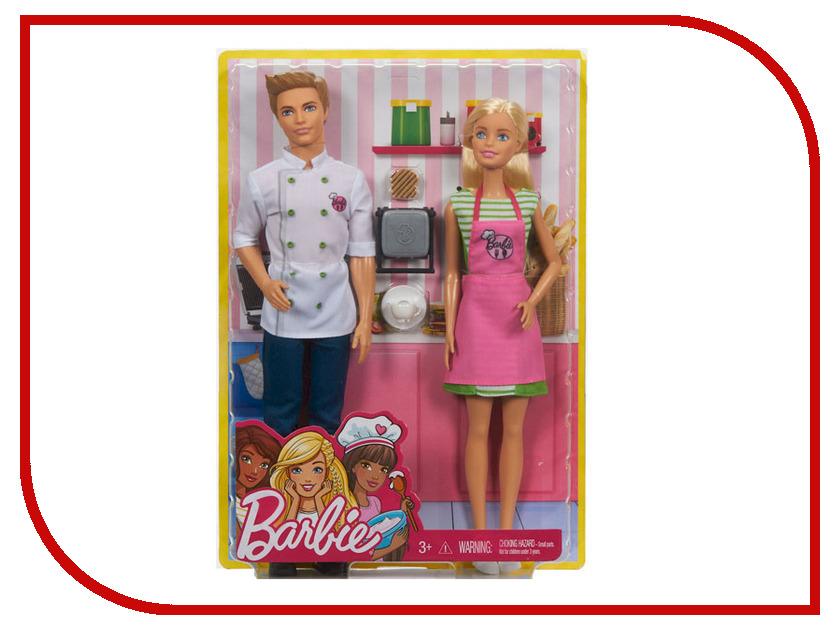 цена Кукла Barbie Барби и Кен шеф-повар, 30 и 32 см, FHP64