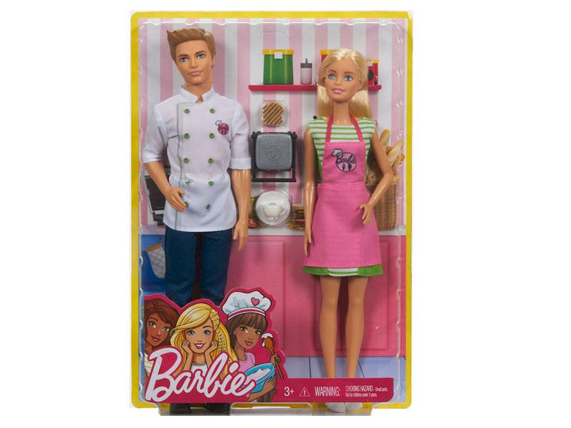 Кукла Barbie Барби и Кен шеф-повар, 30 и 32 см, FHP64