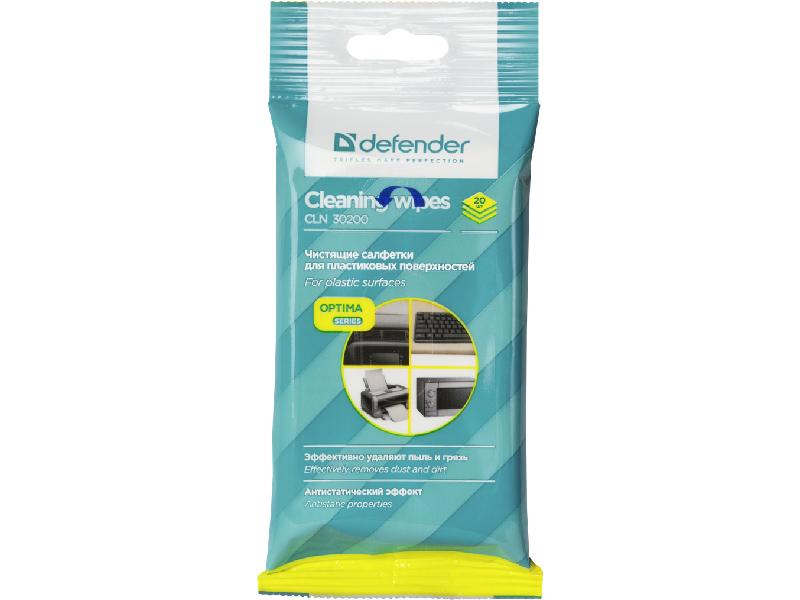 Салфетки для поверхностей Defender Optima CLN 30200 20шт недорого