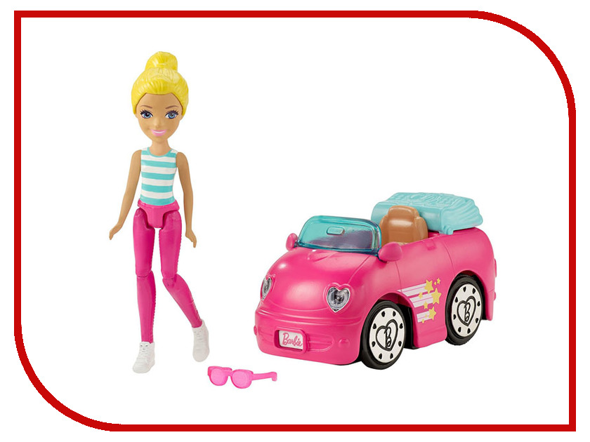 Кукла Mattel Barbie В движении Автомобиль и кукла FHV76 кукла mattel mattel кукла золушка принцессы диснея балерина