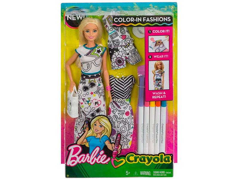 Кукла Barbie с одеждой Crayola, 29 см, FPH90