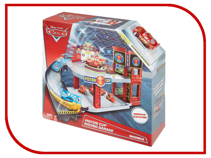 Mattel Cars Большой гараж DWB90 disney pixar cars cars 3 dwb90 lighting mcqueen piston cup race track parking toys birthday christmas gifts for kids cars toys