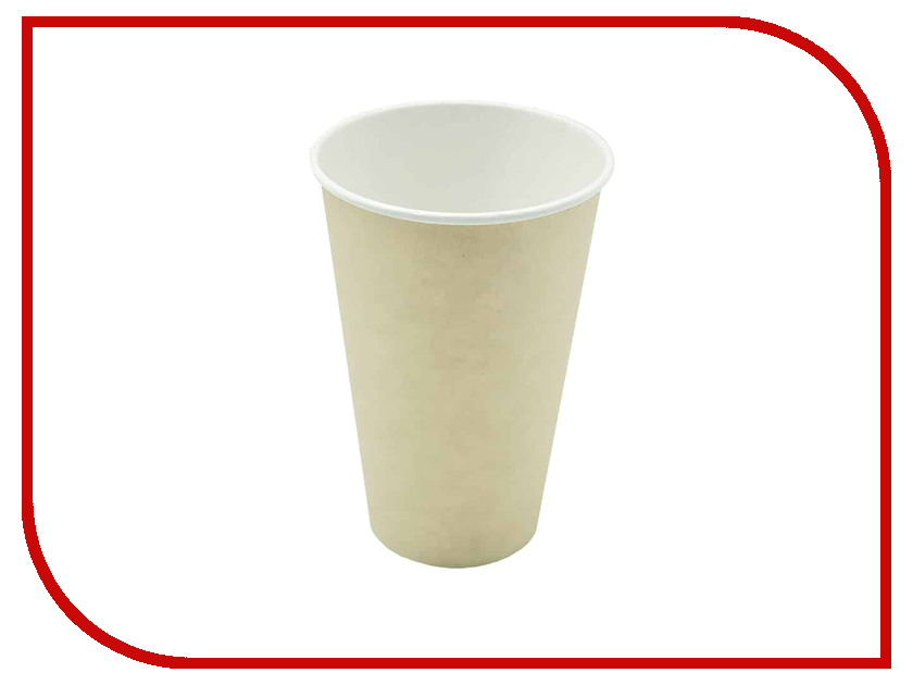 Одноразовые стаканы Ecovilka 350ml 50шт БСОК350Д одноразовые тарелки ecovilka 50шт dtkr190