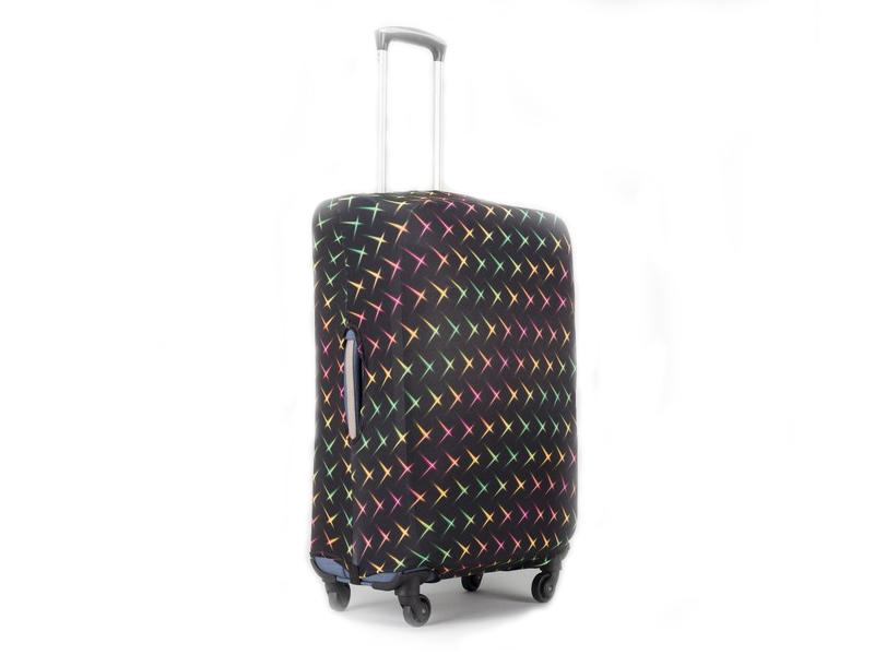 Чехол для чемодана СИМА-ЛЕНД Блики размер 20 Black-Color 2826003
