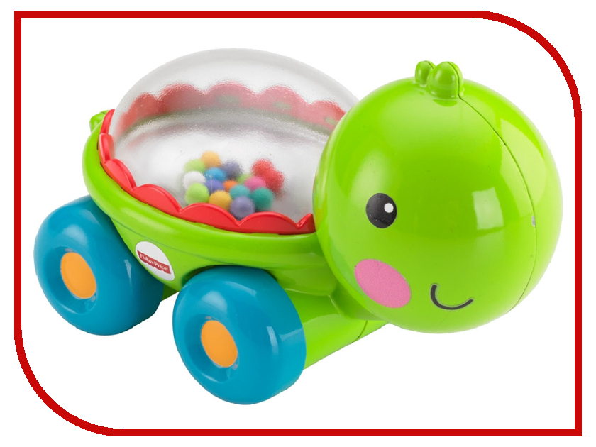 Игрушка Mattel Fisher-Price Черепашка / Бегемотик с прыгающими шариками BGX29 светильник mattel fisher price проектор бегемотик cgn86