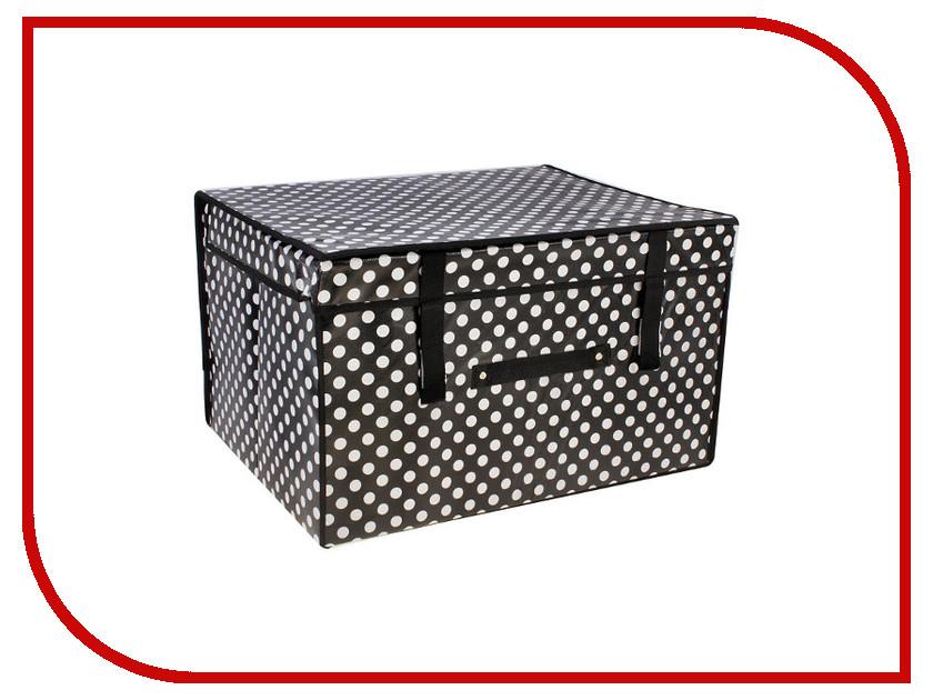 Аксессуар Короб для хранения Queen Fair Горошек 50x40x30cm Black-White 564042
