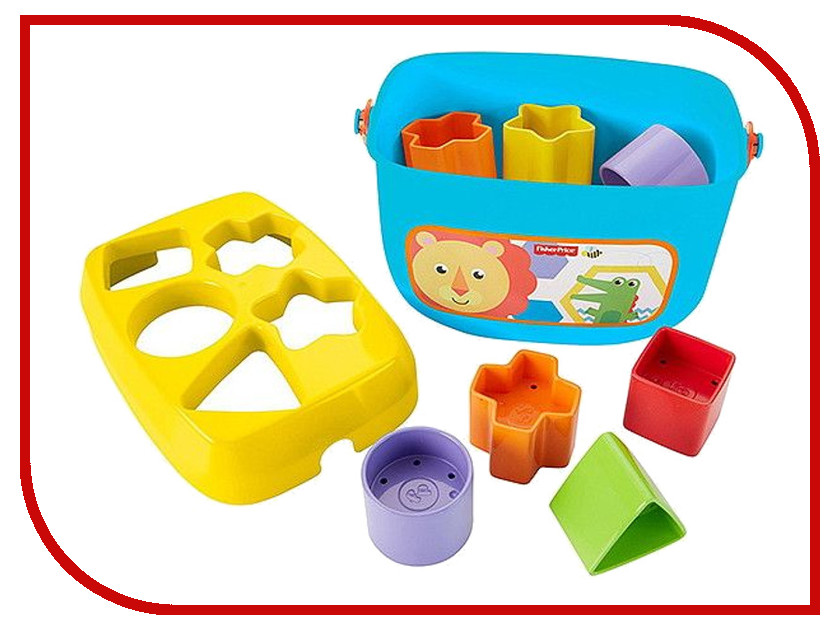 Сортер Mattel Fisher-Price Первые кубики малыша FFC84 fisher price кубики блоки паровозики
