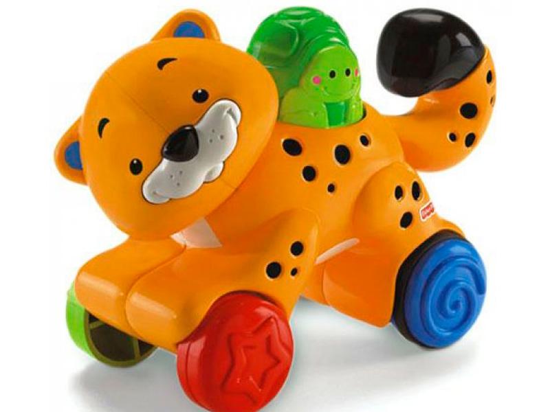 Игрушка Mattel Fisher-Price Веселые животные на колесиках N8160