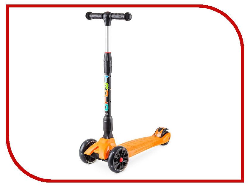 Самокат Trolo Rapid Orange со светящимися колесами trolo самокат rapid синий