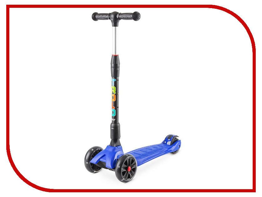 Самокат Trolo Rapid Blue со светящимися колесами