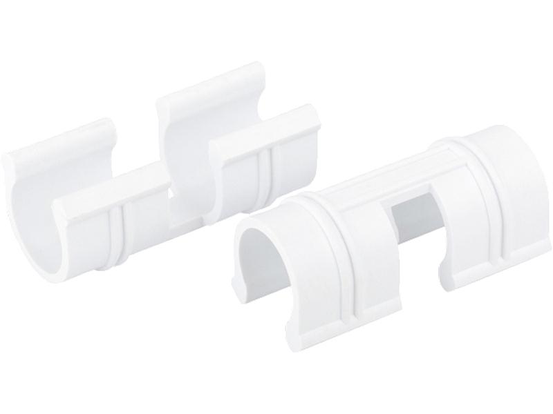 Зажим для крепления плёнки Palisad d-12mm 20шт White 64427