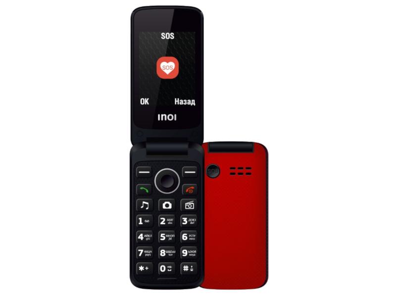 Сотовый телефон Inoi 247B Red сотовый телефон inoi 239 white