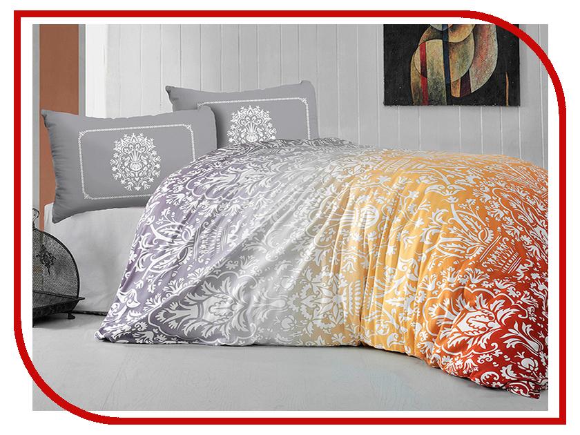 Постельное белье Arya Vizyon Комплект 2 спальный Ранфорс Orange TRK0000000000195