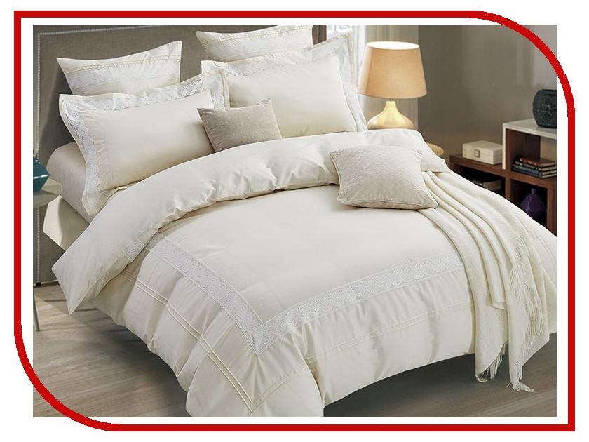 Постельное белье Arya Polina Комплект 2 спальный Сатин с вышивкой Ecru TR1003040 комплект жасмина размер 2 0 спальный с европростыней