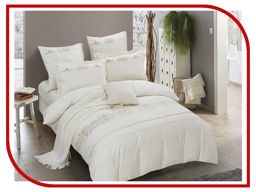 Постельное белье Arya Filibe Комплект 2 спальный Сатин с вышивкой TR1003035 комплект жасмина размер 2 0 спальный с европростыней