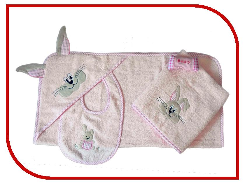 Набор для ванны Arya Rabbit With Ears Pink TR1002585 фартук arya 4 пр bread 1025576