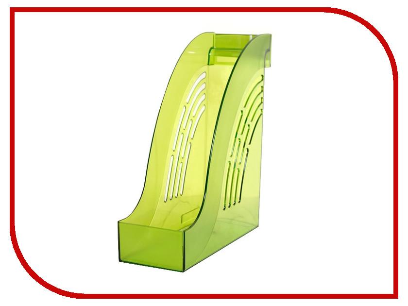 Накопитель вертикальный Attache Яркий офис Transparent Lime 644885