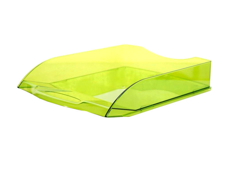 Лоток горизонтальный Attache Яркий офис Transparent Lime 644888