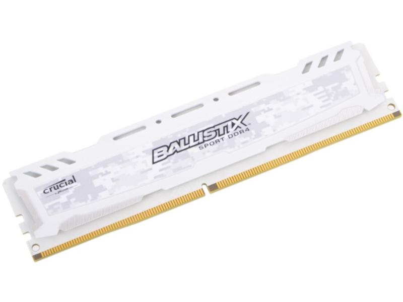 Модуль памяти Crucial Ballistix Sport LT White DDR4 DIMM 2666MHz PC4-21300 CL16 - 8Gb BLS8G4D26BFSC / BLS8G4D26BFSCK