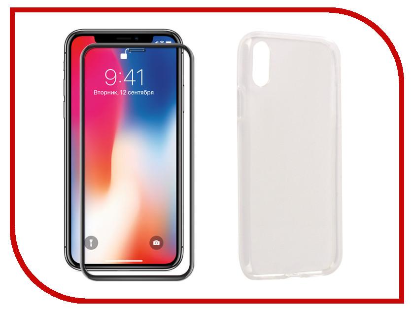 Аксессуар Защитное стекло + накладка для APPLE iPhone X Innovation 5D Lux Black 11696