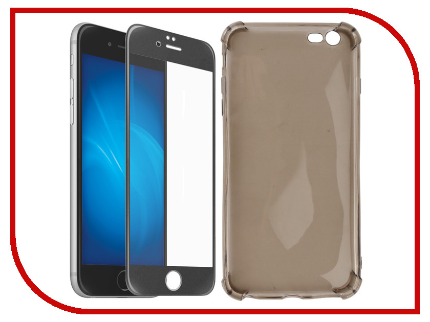 Аксессуар Чехол + защитное стекло для APPLE iPhone 6 Plus / 6S Plus Innovation 5D Lux Black 11700 аксессуар чехол bouletta multi для apple iphone 6 plus 6s plus black mcmulk1i7p