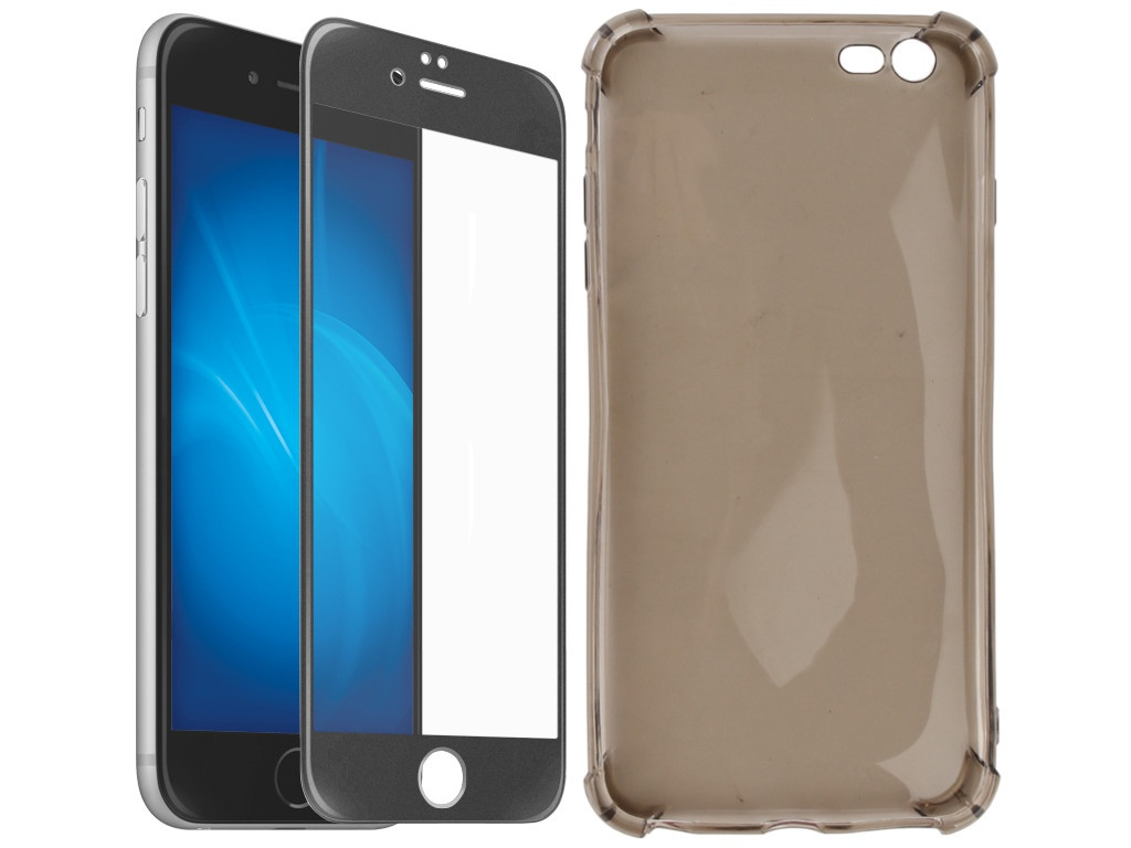 Аксессуар Чехол + защитное стекло Innovation для APPLE iPhone 6 Plus / 6S Plus 5D Lux Black 11700 аксессуар чехол защитное стекло innovation для apple iphone 6 6s boostar black 11753