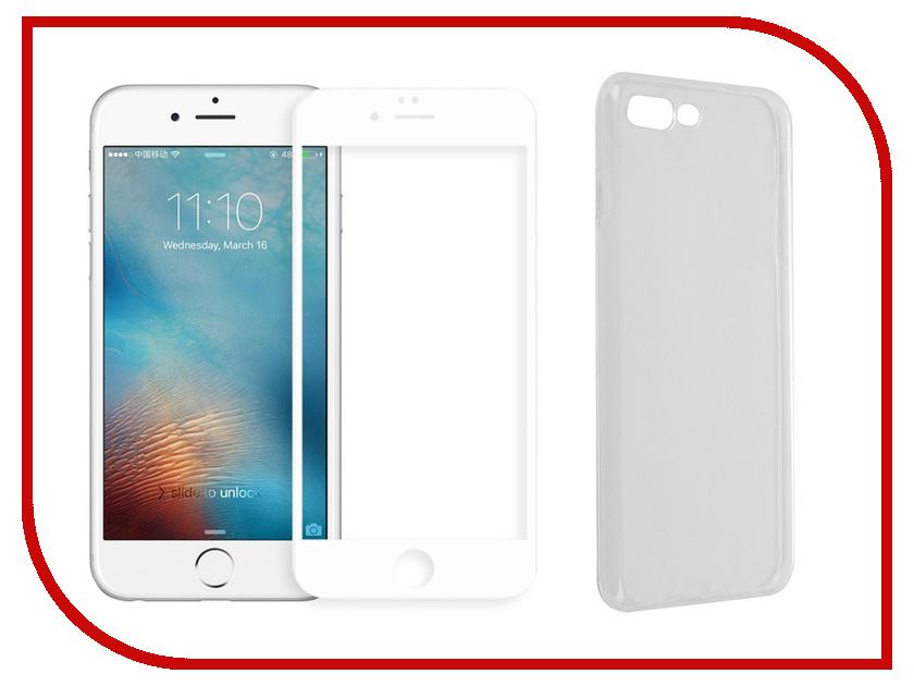 Аксессуар Защитное стекло + накладка Innovation 5D Lux для APPLE iPhone 7 Plus / 8 Plus White 11703 матовое защитное стекло ainy для apple iphone 7 plus