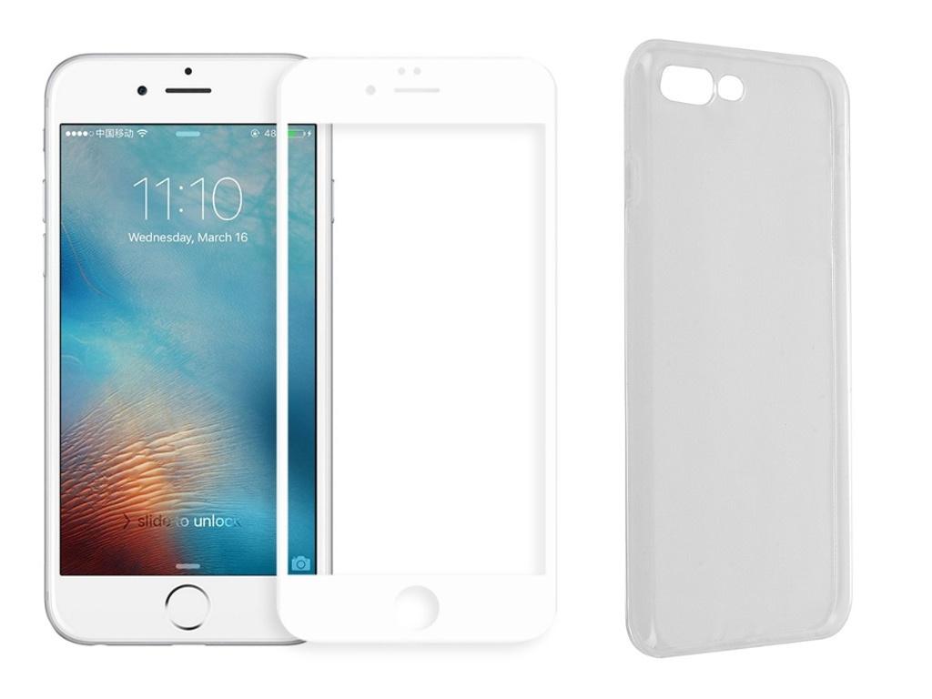Аксессуар Защитное стекло + накладка Innovation для APPLE iPhone 7 Plus / 8 5D Lux White 11703