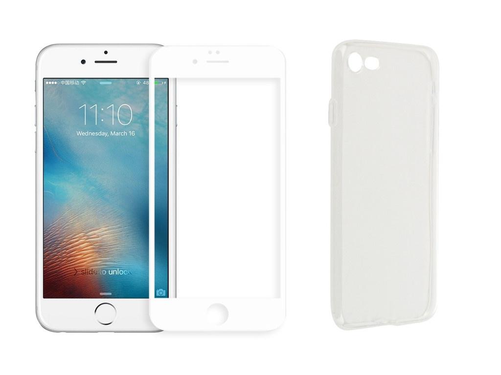 Аксессуар Защитное стекло + накладка Innovation для APPLE iPhone 7 / 8 5D Lux White 11701 аксессуар защитное стекло для apple iphone 7 8 innovation 6d white 13185