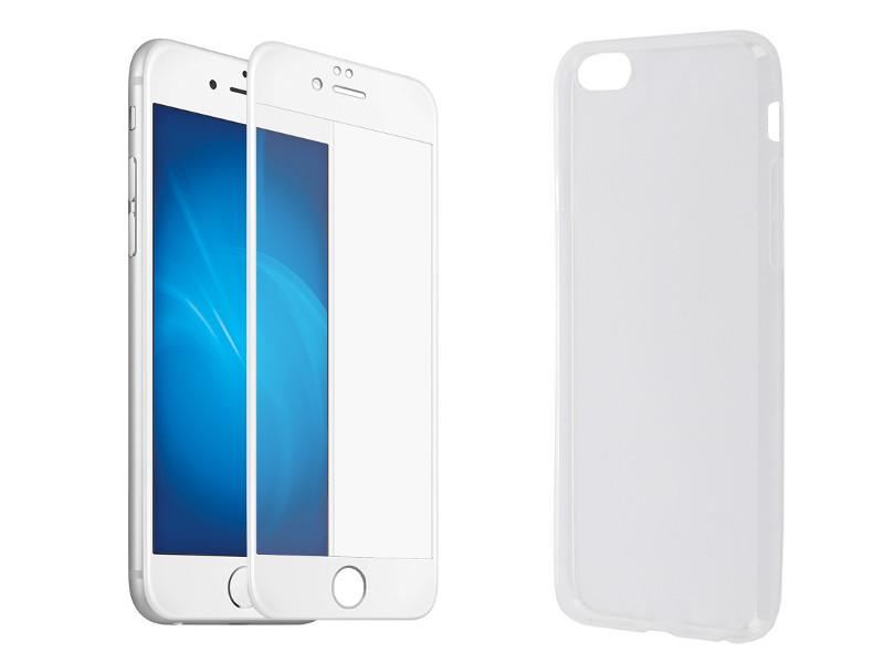 Аксессуар Защитное стекло + накладка Innovation для APPLE iPhone 6 Plus / 6S Plus 5D Lux White 11699 аксессуар чехол защитное стекло innovation для apple iphone 6 6s boostar black 11753