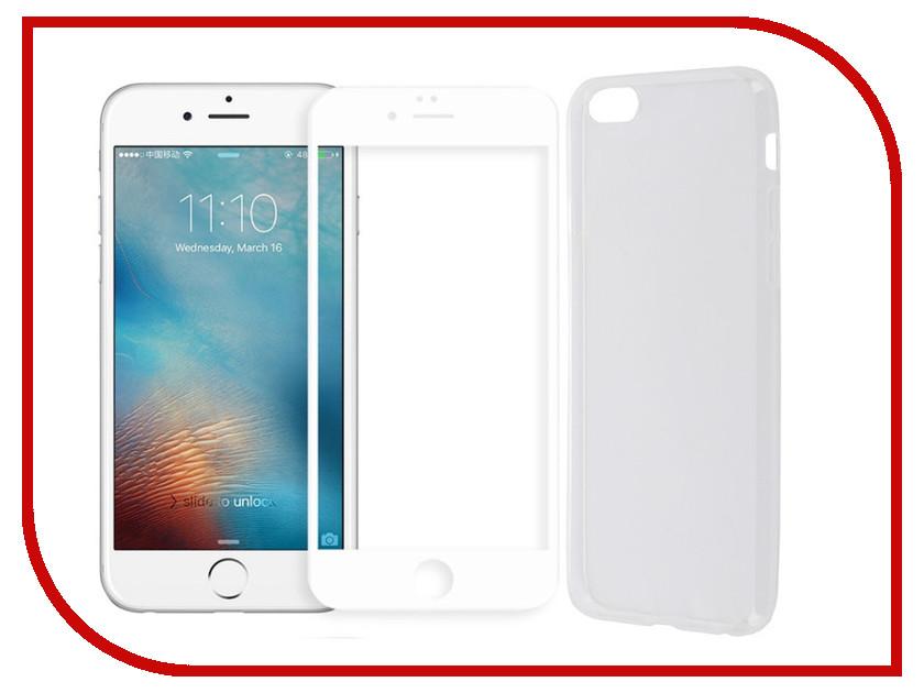 Аксессуар Защитное стекло + накладка Innovation 5D Lux для APPLE iPhone 6 / 6S White 11698 аксессуар защитное стекло svekla 3d для apple iphone 6 6s white frame zs svap6 6s 3dwh