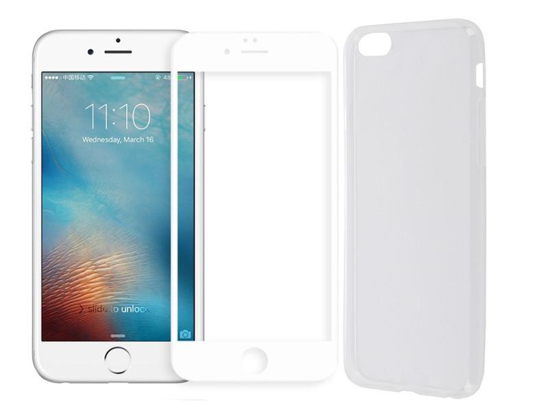 Аксессуар Защитное стекло + накладка Innovation для APPLE iPhone 6 / 6S 5D Lux White 11698