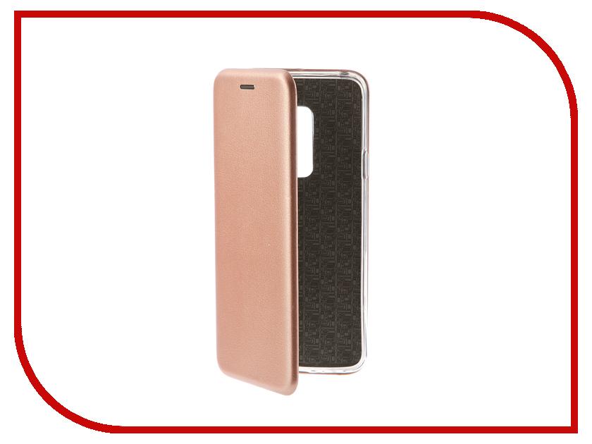 Аксессуар Чехол для Samsung Galaxy S9 Plus Innovation Book Pink Gold 11966 цена и фото