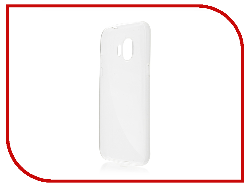 Аксессуар Чехол Samsung Galaxy J2 2018 BROSCO Transparent SS-J2(8)-TPU-TRANSPARENT аксессуар чехол xiaomi mi6 brosco silicone black xm mi6 tpu black