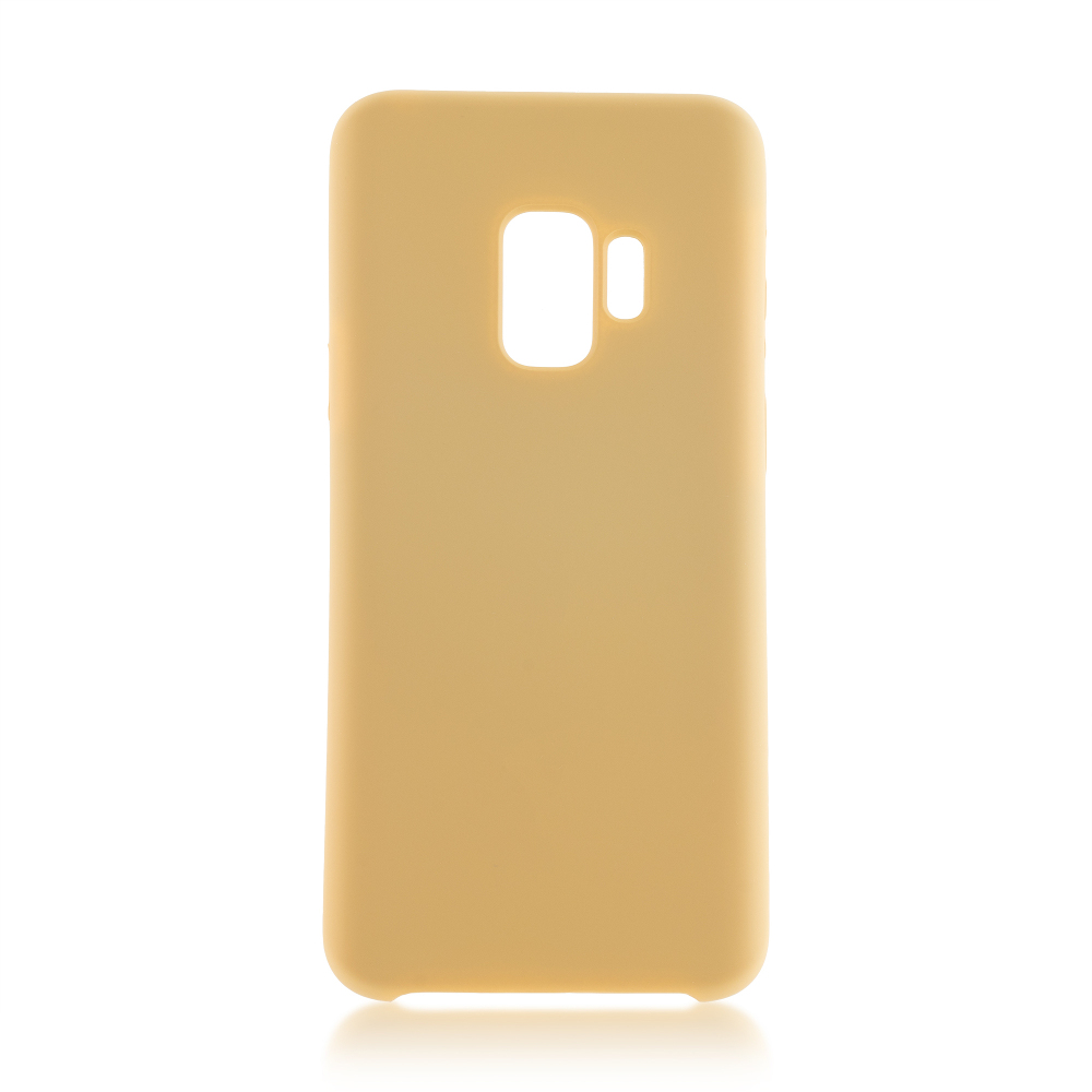Чехол для Samsung Galaxy S9 Brosco Gold SS-S9-SOFTRUBBER-GOLD