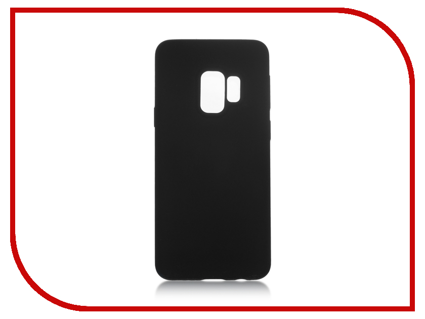 Аксессуар Чехол для Samsung Galaxy S9 BROSCO Black SS-S9-SOFTRUBBER-BLACK аксессуар чехол samsung j3 2017 j330f zibelino clear view black zcv sam j330 blk
