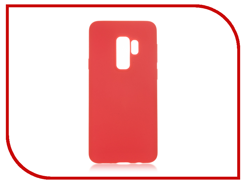 Аксессуар Чехол для Samsung Galaxy S9 Plus BROSCO Red SSS9PSOFTRUBBERRED