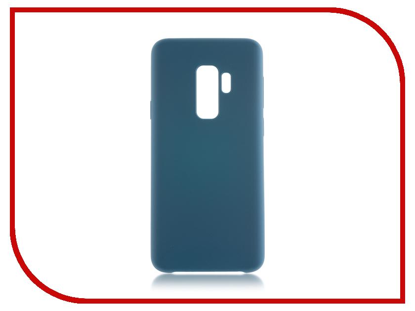 Аксессуар Чехол для Samsung Galaxy S9 Plus BROSCO Dark Green SS-S9P-SOFTRUBBER-AQUA aqua pe ultra troll dark green 150m 0 35mm 32 10kg