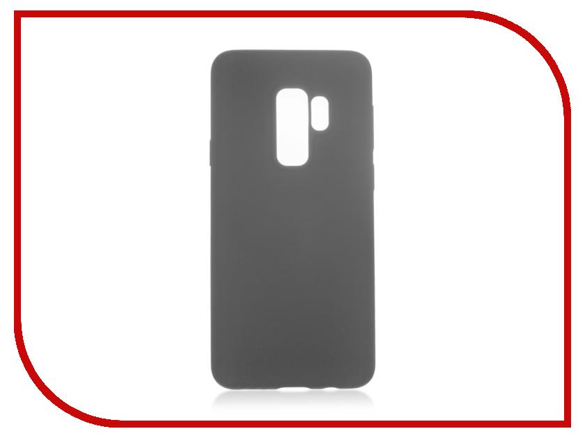 Аксессуар Чехол для Samsung Galaxy S9 Plus BROSCO Black SS-S9P-SOFTRUBBER-BLACK аксессуар чехол samsung j3 2017 j330f zibelino clear view black zcv sam j330 blk