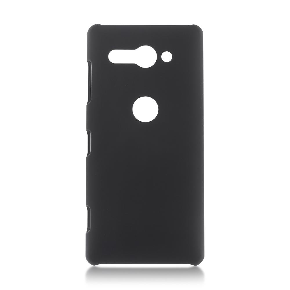 Чехол Brosco для Sony Xperia XZ2 Compact Black XZ2C-SOFTTOUCH-BLACK кейс для назначение sony xperia xz2 xperia xz2 compact бумажник для карт кошелек со стендом чехол ловец снов твердый кожа pu для