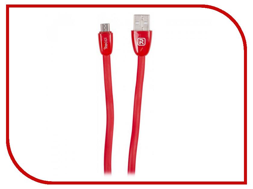 Аксессуар Recci Jelly RCM-S100 USB-microUSB Red кофеварка redmond rcm 1505 s skycoffee