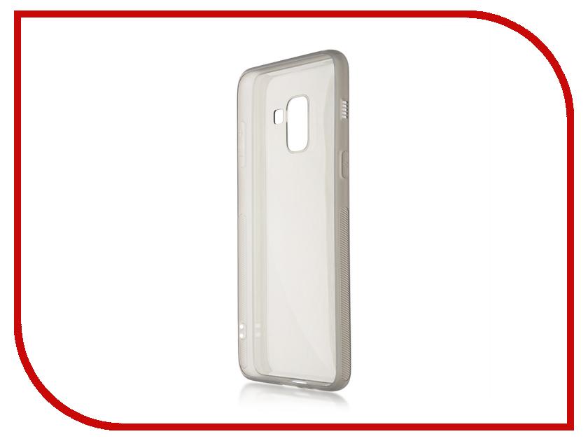 Аксессуар Чехол для Samsung Galaxy A8 BROSCO Silicone Black SS-A8-TPU-BLACK mooncase s line soft flexible silicone gel tpu skin shell back чехолдля htc one m9 black