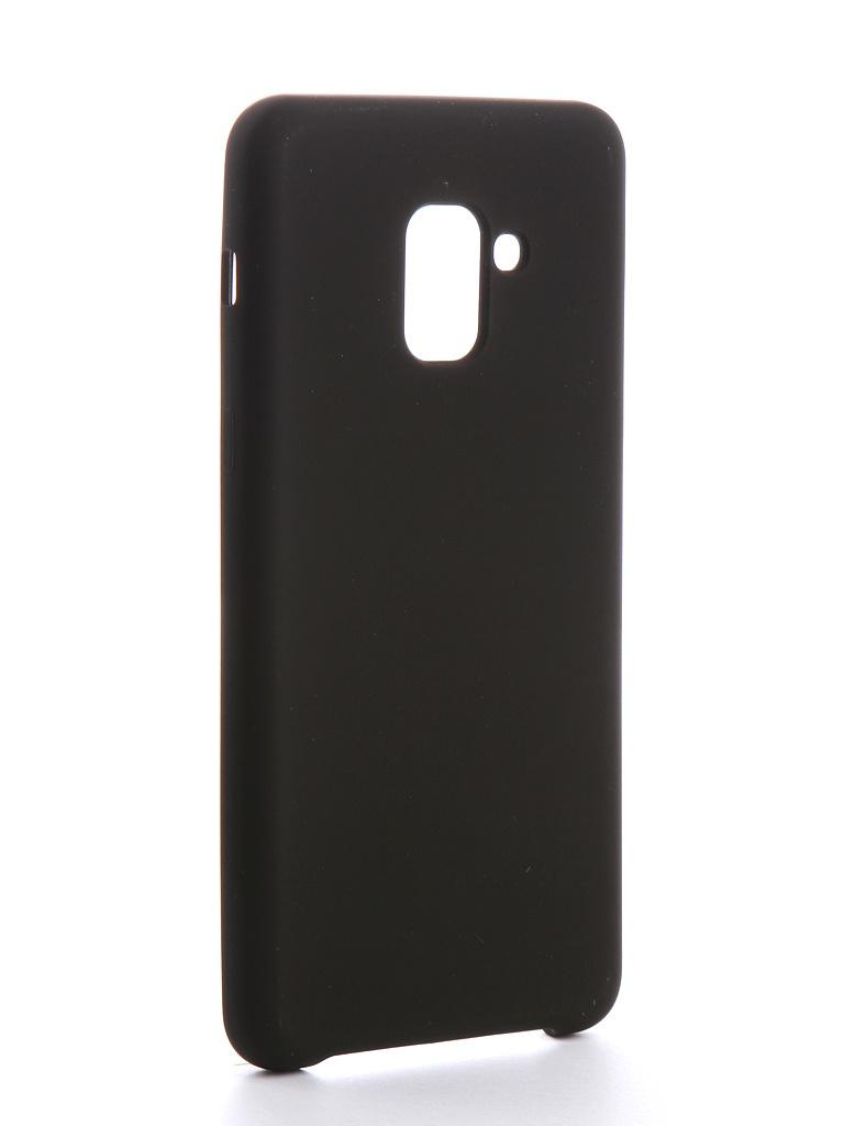 Аксессуар Чехол Brosco для Samsung Galaxy A8 Plus Softrubber Black SS-A8P-SOFTRUBBER-BLACK аксессуар чехол накладка для samsung galaxy s7 brosco black ss s7 tpu black