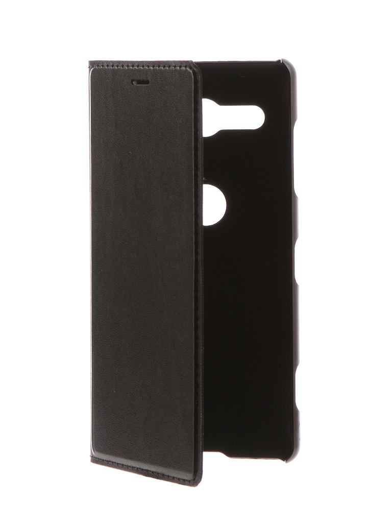 Аксессуар Чехол-книжка Brosco для Sony Xperia XZ2 Compact Black XZ2C-BOOK-BLACK аксессуар чехол для sony xperia xz2 compact brosco transparent xz2c tpu transparent