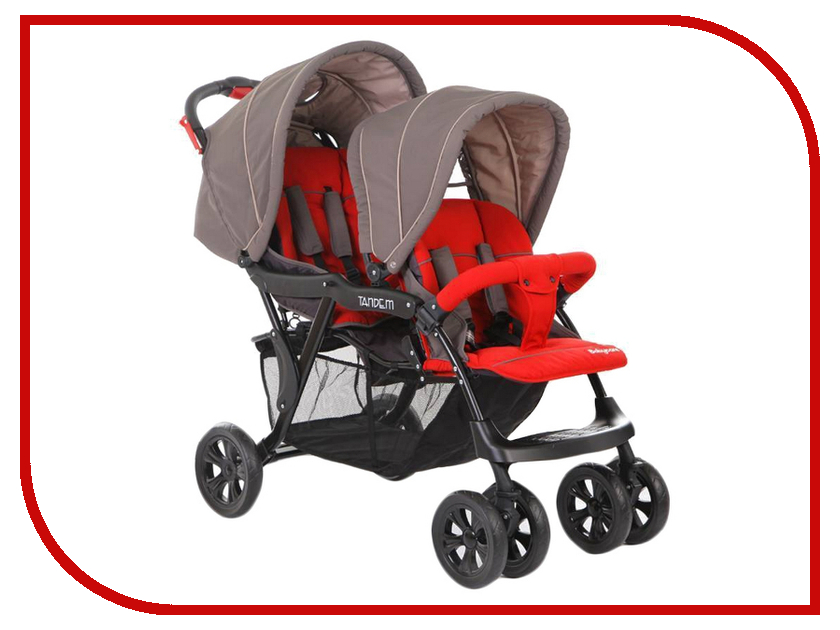 Коляска Baby Care Tandem Grey/Red baby care bc 322lux слоник orange